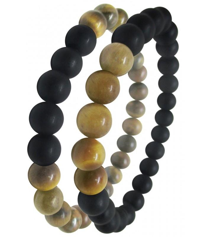 312b58ab5dc5 juego pulseras para hombre fabricada con diferentes piedras naturales