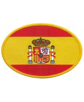 PARCHE OVALADO BORDADO BANDERA Y ESCUDO DE ESPAÑA