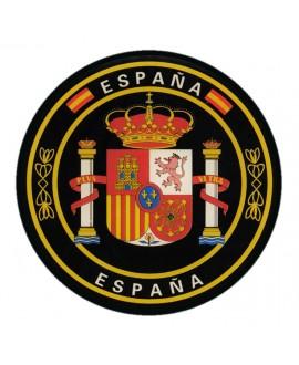 PEGATINA CIRCULAR ESCUDO DE ESPAÑA RESINA