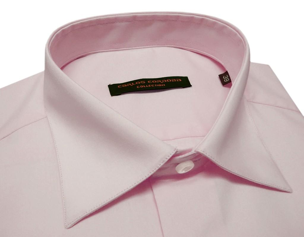 camisa para hombre manga larga color rosa fucsia fabricado