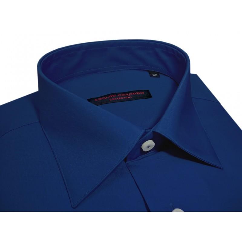dc08350b034 camisa para hombre, manga larga en color azul electrico, hecho en españa