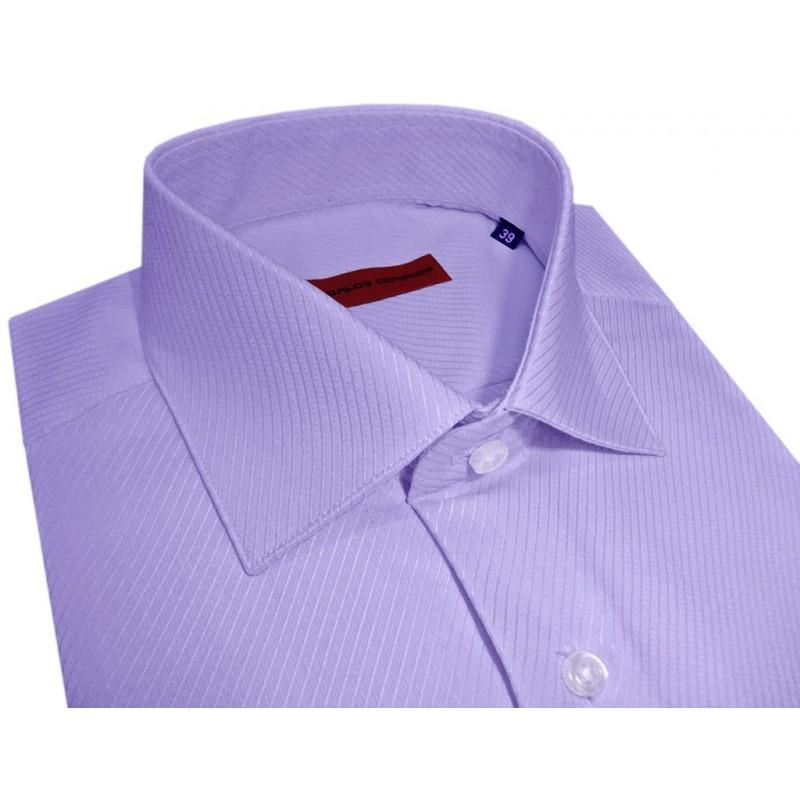 c91a6d33c28 camisa para caballero manga larga finas lineas diagonales color lila