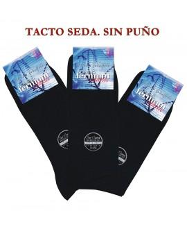 CALCETINES HOMBRE PACK DE 3 TACTO SEDA SIN PUÑO