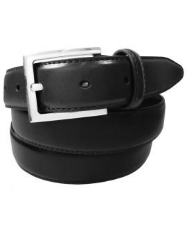 CINTURON HOMBRE PIEL CLASICO 30mm NEGRO