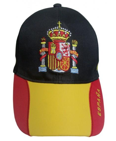 GORRA CON BORDADO ESCUDO DE ESPAÑA NEGRA