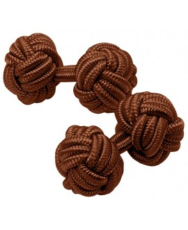 GEMELOS ELASTICOS BOLAS MARRON CHOCOLATE