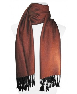 BUFANDA LISA UNISEX COLOR COBRE