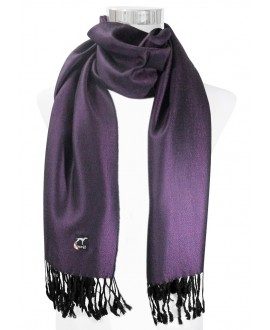 BUFANDA LISA UNISEX COLOR MORADA