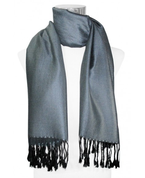 BUFANDA LISA UNISEX COLOR GRIS