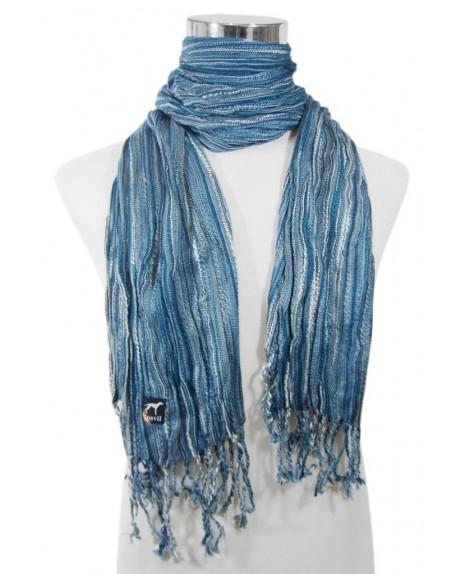 Fular realizados en diferentes tejidos variedad en modelos - Tonos azules ...