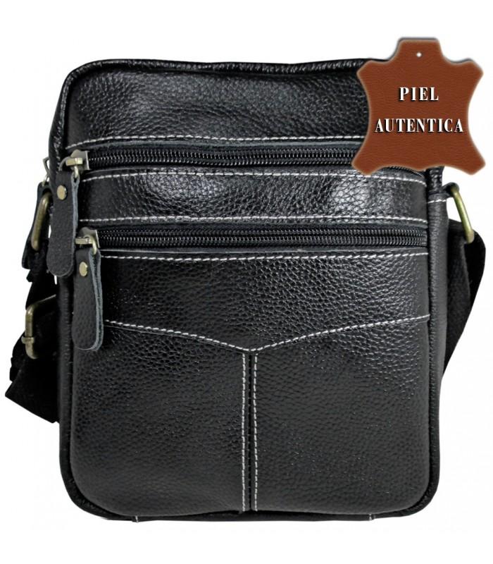 5621a37c1 bolso grande tipo bandolera en piel vacuno color negro uso muy comodo