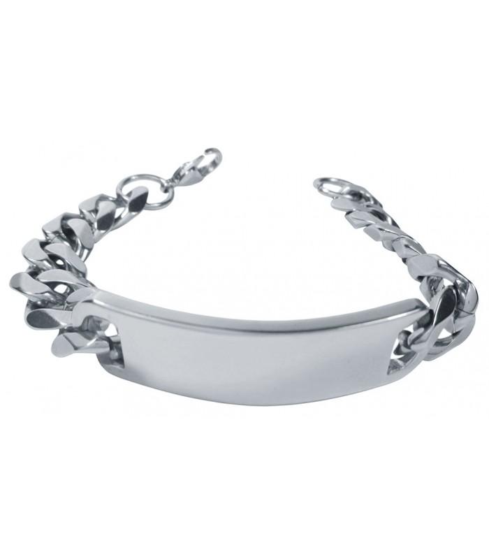 f56619e955a3 robusta pulsera tipo esclava masculina fabricada en acero color plata
