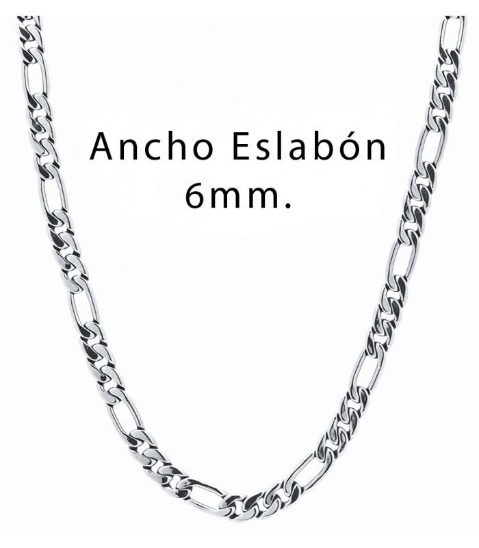 023b1236301e cadena para hombre estilo figaro barbado fabricada en acero quirurgico