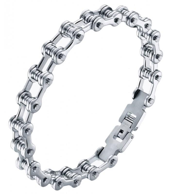 de27b9636dd6 pulsera para hombre fabricada en acero quirurgico forma cadena de bici