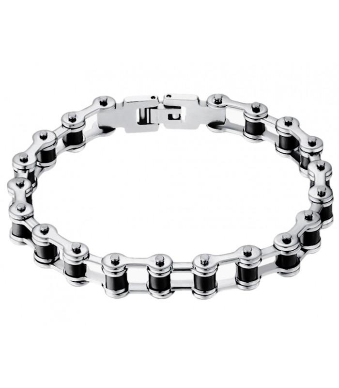 93390405b5b0 moderna pulsera de hombre fabricada en acero forma cadena de bicicleta